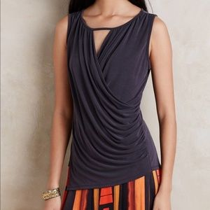 Anthropologie Deletta Draped Keyhole Tank
